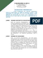 Especificaciones Técnicas SEE 2015