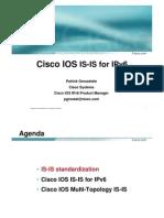 ipv6 ISIS for IPv6