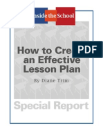 How to Create Effective Lesson Plan