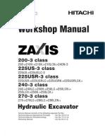 EXCAVADORA HIDRAULICA HITACHI ZX200 3 WorkShop