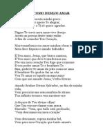 Como Desejo Amar Poemas