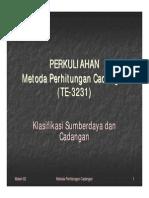 Materi MPC 02 Klasifikasi Sumberdaya