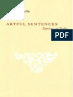 Artful Sentences Syntax as Style
