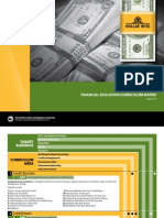 DollarWise Financial Education Curriculum Matrix, 2008–09