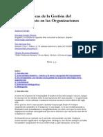 Bases Teóricas de La Bases Teóricas de La Gestión Del Conocimiento en Las OrganizacionesGestión Del Conocimiento en Las Organizaciones