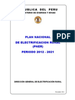 Perú Plan Nacional de Electrificación Rural