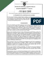 Decreto 427 Del 11 de Marzo de 2015