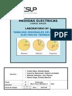 ANÁLISIS FASORIALES EN CIRCUITOS ELÉCTRICOS TRIFÁSICOS