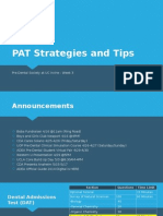 PAT Strategies and Tips Spring 2014