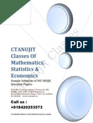 Msqe 2004-2014 Answer Key   Profit (Economics)   Demand