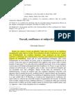 Christophe Dejours - Travail, Souffrance Et Subjectivité