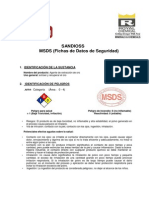 Msds Sandioss - Royal Chemical Minerals and Chemicals