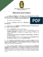 PROCESO Y CALENDARIO ELECTORAL