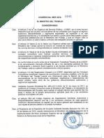 Acuerdo Ministerial 0041 25-02-2015