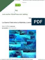 La Guerra Fatal Entre La Atlántida y Lemuria _ Maestroviejo's Blog
