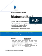 Modul-3. Mtk I Limit dan Kontinuitas Fungsi.doc
