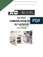 KO-MAG Instruction Manual _Vacuum Laminating Machine