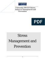 stress management and prevention program resource guide