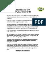 Junior Bake Off App Form Ys