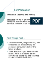 the art of persuasion - part 1