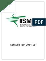 IISM_Aptitude Test 2015