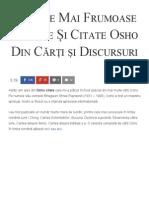 15 Cele Mai Frumoase Maxime Și Citate Osho Din Cărți Și Discursuri - Florin Roșoga