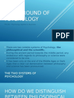 Background of Psychology