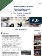 IBM SME ITB - Pelatihan Kewirausahaan Institutre Teknology Bandung ITB