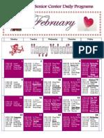 Feb 2010 Daily Activity Calendar