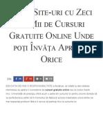 35 de Site-uri Cu Zeci de Mii de Cursuri Gratuite Online Unde Poți Învăța Aproape Orice - Florin Roșoga