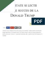 50 Citate Si Lectii Despre Succes Din Viata Lui Donald Trump