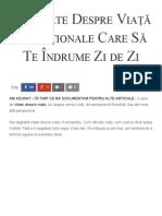 65 Citate Despre Viață Excepționale Care Să Te Îndrume Zi de Zi - Florin Roșoga