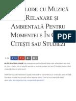 71 Melodii Cu Muzică de Relaxare Și Ambientală Pentru Momentele În Care Citești Sau Studiezi - Florin Roșoga