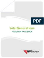 NV Energy Solar Generations Program Handbook 03.16.2015