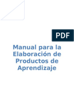 Manual_Productos de Aprendizaje