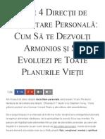 Cele 4 Direcții de Dezvoltare Personală_ Cum Să Te Dezvolți Armonios Și Să Evoluezi Pe Toate Planurile Vieții - Florin Roșoga