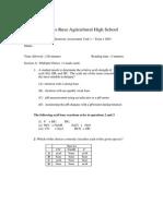 JR Chemistry Term1 2001