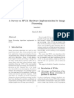 A Survey on FPGA Hardware Implementation for Image Processing