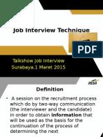 Job Interview Technique 2015