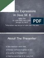 Lambda Expressions in Java 8