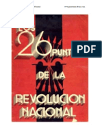 26 Puntos de La Revolución Nacional, Los
