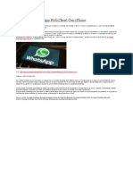 Cómo Usar WhatsApp Web Client Con iPhone
