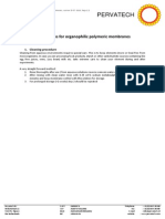 Cleaning Instructions for Organophilic Polymeric Membranes Version 25-07-2014