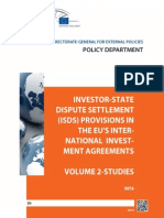 Investor-State Dispute Settlement (ISDS) Provisions in the EU's International Investment Agreements (Volume 2, Studies)