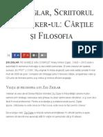 Zig Ziglar, Scriitorul Și Speaker-ul_ Cărțile Și Filosofia - Florin Roșoga