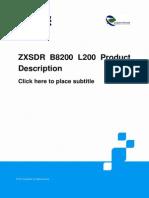 ZTE LTE ZXSDR B8200 L200 Product Description .pdf