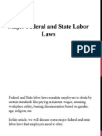 Major Federal and State Labor Laws