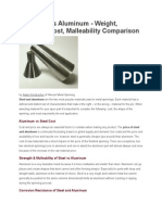 Steel Versus Aluminum