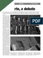 150325 La Verdad- El Deporte, A Debate