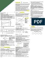 Physics Cheat Sheet - LIGHT and MATTER